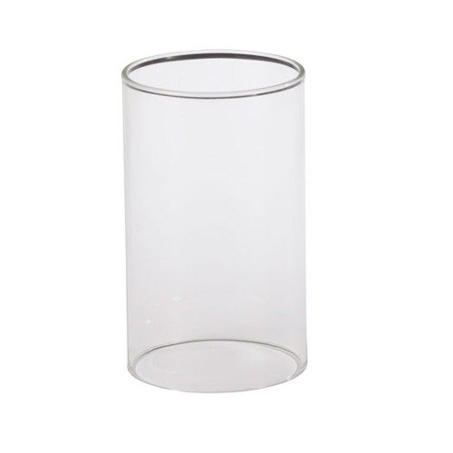 glass cylinder lamp square base table sterno products 85332 3
