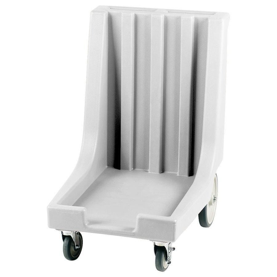 Cambro CD1826HB180 Light Gray Camdolly with Handle and Rear Easy Wheels for 18 inch x 26 inch Trays and UPC101 Ultra Pan Carriers