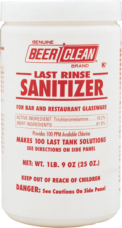 Diversey 90203 Beer Clean Last Rinse Sanitizer 2 - 25 oz. Containers/Case