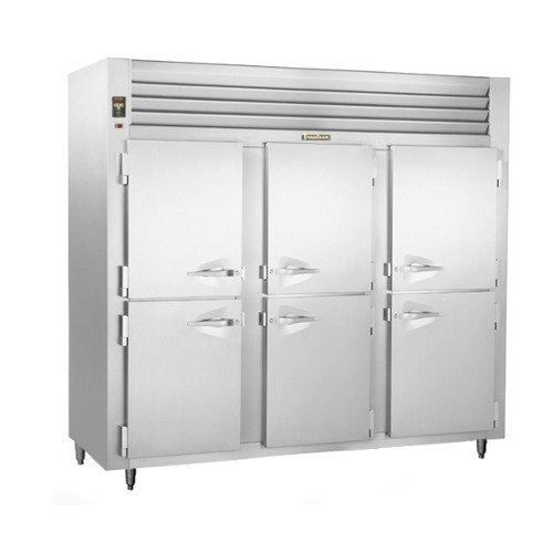 Traulsen AHT332NUT-HHS 69.5 Cu. Ft. Half Door Three Section Narrow Reach In Refrigerator - Specification Line