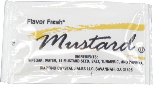 Mustard 4.5 Gram Portion Packet 500/Case