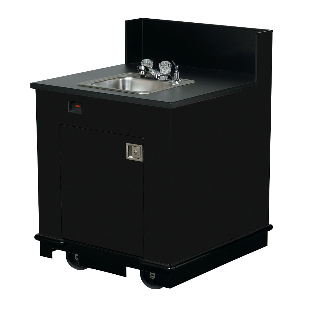 Vollrath 75671 BLACK Portable Single Bowl Hand Sink Cart 120V