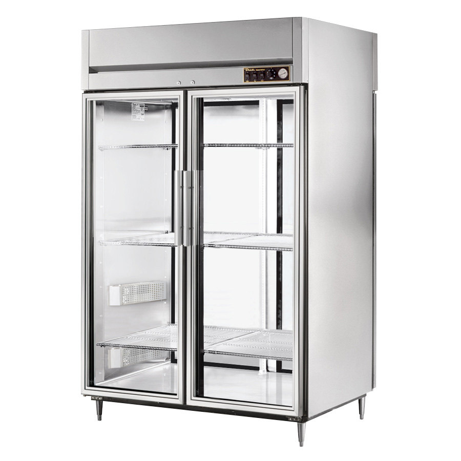 True STG2HPT-2G-2S Specification Series Two Section Pass Through Heated Holding Cabinet with Front Glass Doors and Rear Solid Doors
