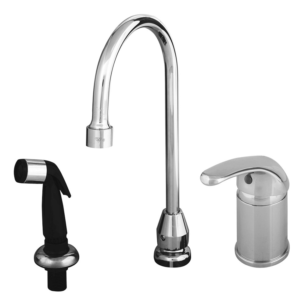 T&S B-2744 Single Lever Faucet with Remote On/Off Control Base ...