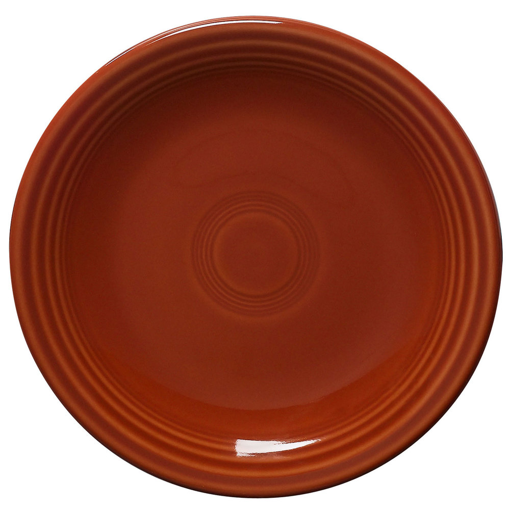 "Homer Laughlin 464334 Fiesta Paprika 7 1/4"" Salad Plate - 12 / Case"