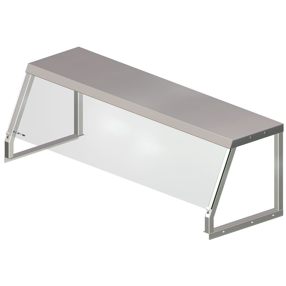 APW Wyott 32010508 Serving Shelf with Acrylic Shield for 5 Well Sealed Element Steam Table