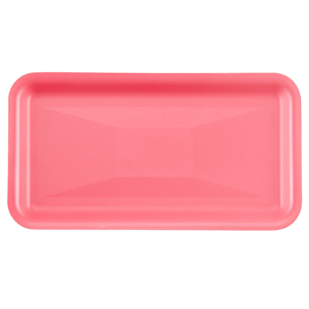 "Genpak 1010S (#10S) Rose 10 3/4"" x 5 3/4"" x 1/2"" Foam Supermarket Tray - 500 / Case"