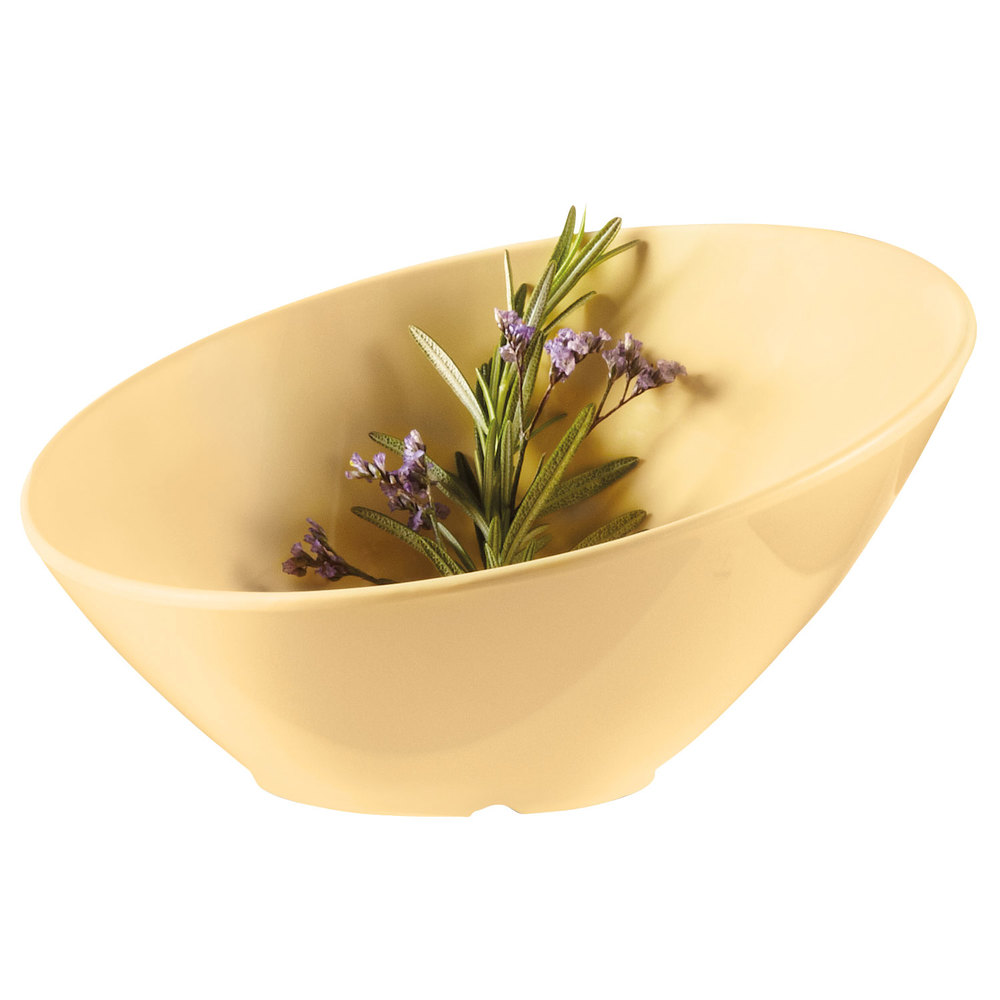 GET B-788-SQ Diamond Harvest 16 oz. Squash Cascading Melamine Bowl 6 / Case