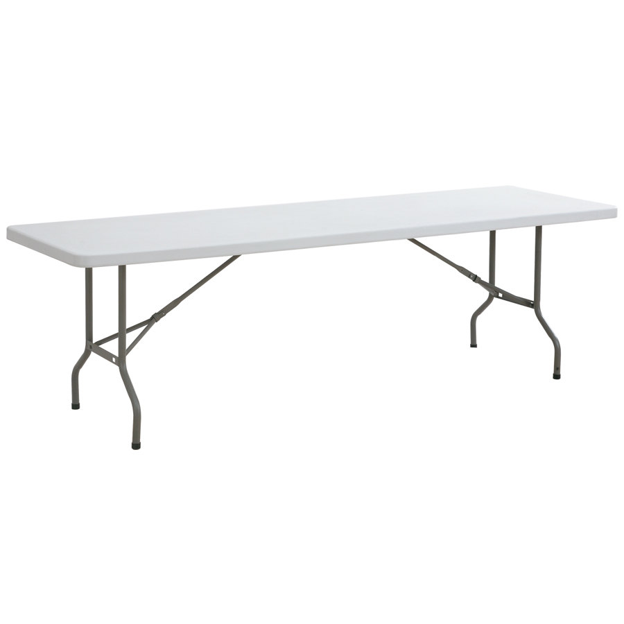 8 foot folding table 8 foot banquet table for Cuisine table retractable