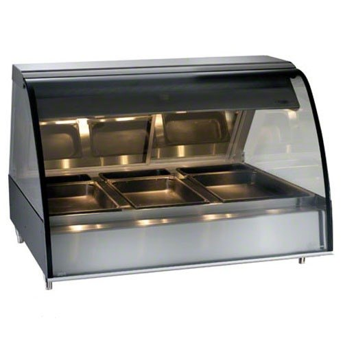 "Alto-Shaam TY2-48 SS Stainless Steel Countertop Heated Display Case with Curved Glass - Full Service 48"" at Sears.com"