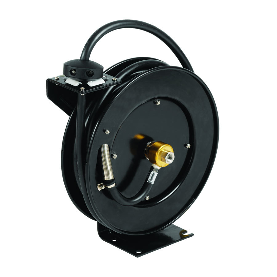 ... -09-GH Hose Reel with Garden Hose Adapter and Spray Valve - 50' Hose