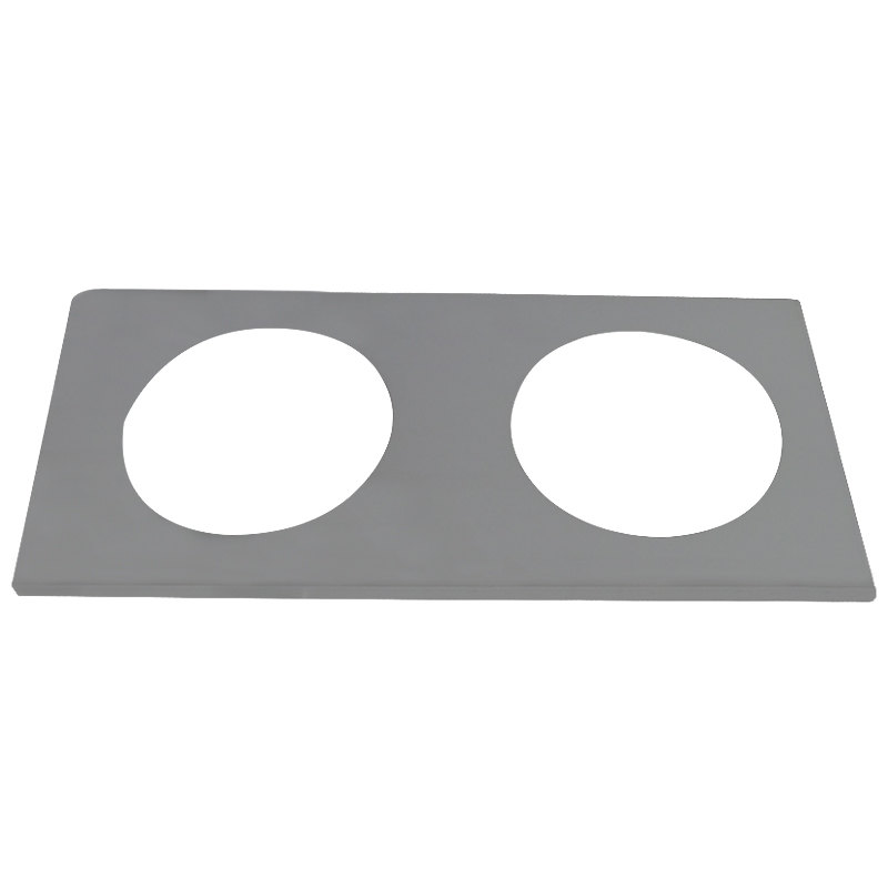 "APW Wyott 56639 2 Hole Adapter Plate with 10 1/2"" Openings"