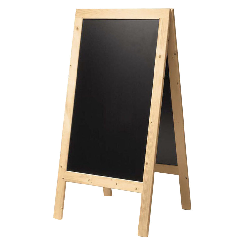 American Metalcraft Securit SBSB135 A Frame Sign Board 30 X 54 Natural Finish
