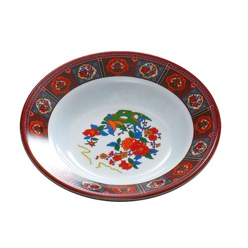 Peacock 10 oz. Round Melamine Soup Plate - 12/Pack
