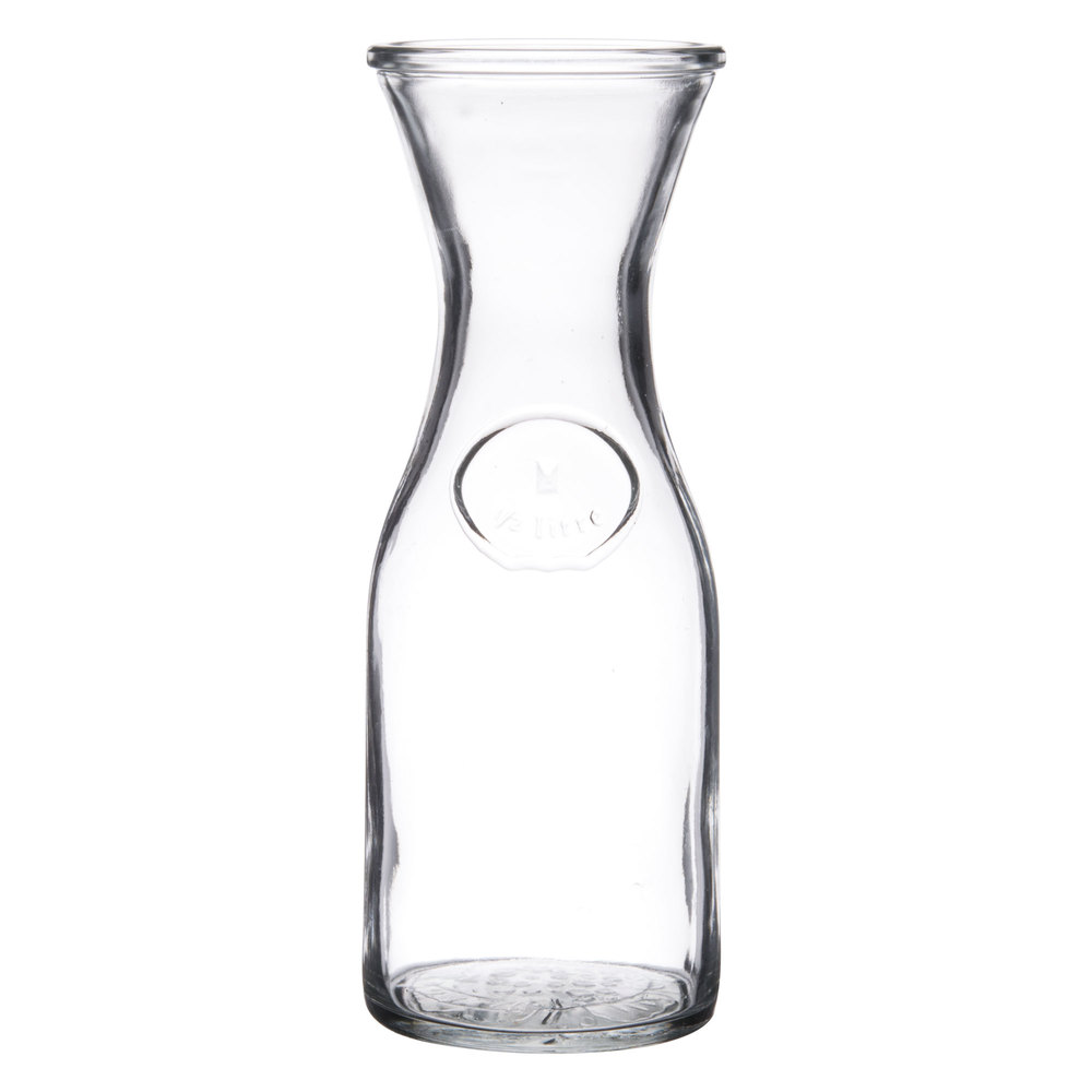 Libbey 97001 0 5 liter 17 oz glass wine decanter 12 for Wine carafes and decanters