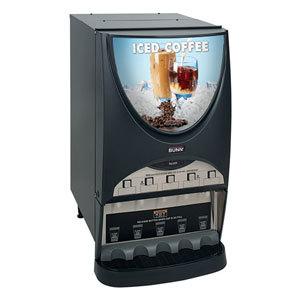 Bunn iMIX-5 BLK Iced Coffee Dispenser with 5 Hoppers - 120V (Bunn 37000.0002) at Sears.com