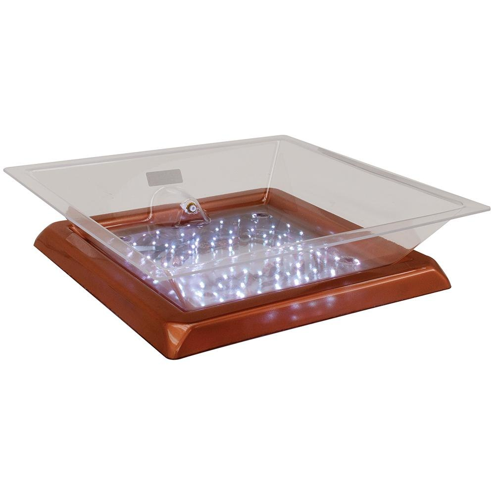 "Buffet Enhancements 010LCS22LED-CP 22"" x 22"" x 4"" LED Lighted Ice Display - Copper Base"