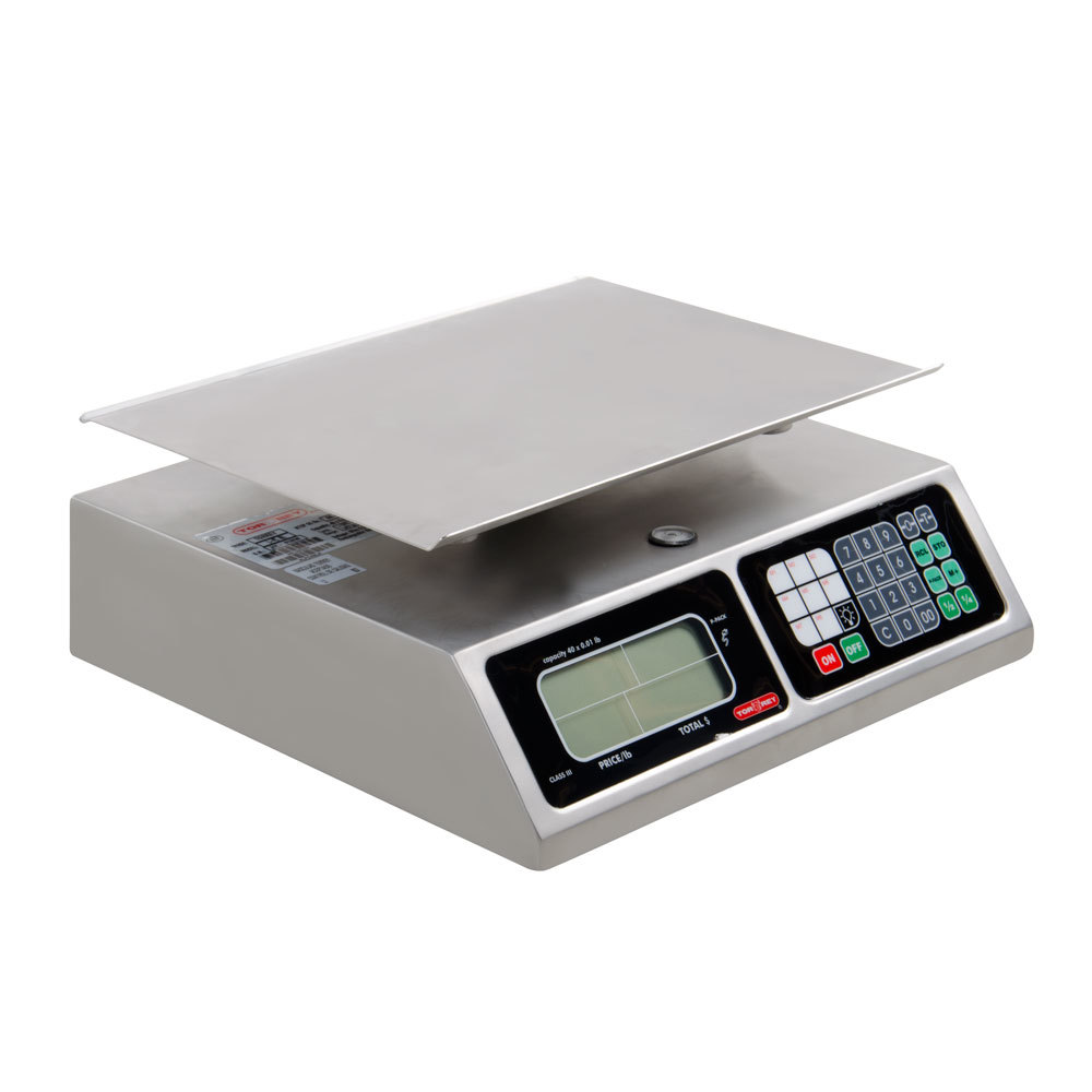 TOR REY L-PC 40L 40 Pound Digital Price Computing Scale, Legal for Trade