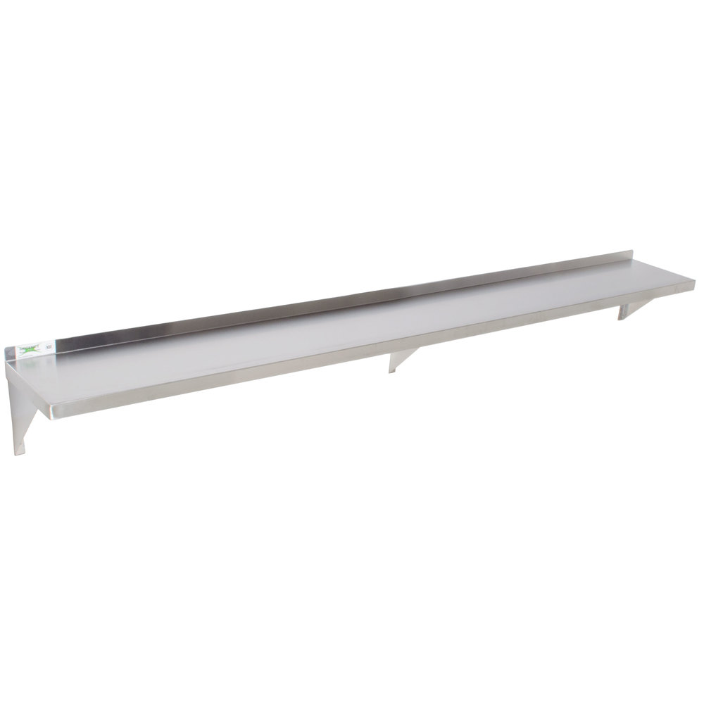 Regency 18 Gauge Stainless Steel 12 X 96 Solid Wall Shelf