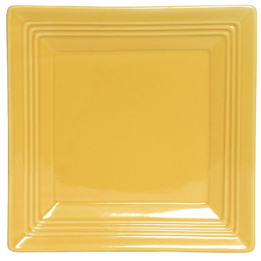 Tuxton Concentrix CSH-0845 Saffron 8 1/2 inch Square China Plate 12/Case