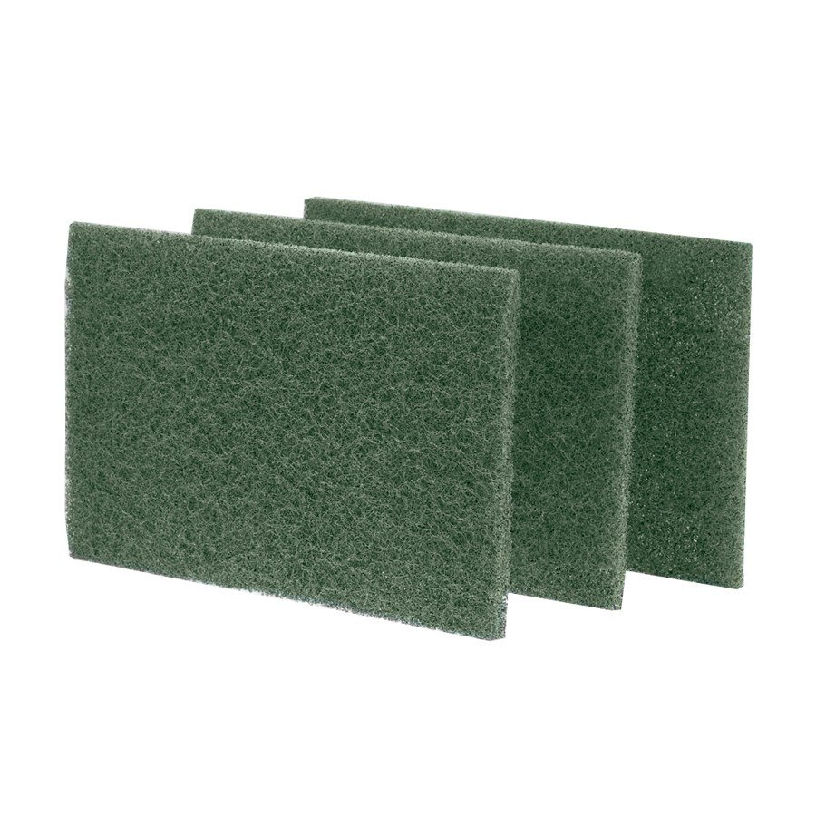 Heavy Duty Green Scouring Pad, 6 inch x 9 inch - 10 / Pack