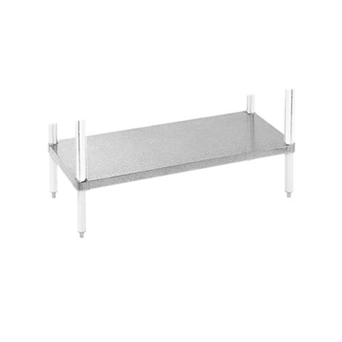 "Advance Tabco UG-24-120 Adjustable Work Table Undershelf for 24"" x 120"" Table - 18 Gauge Galvanized Steel"