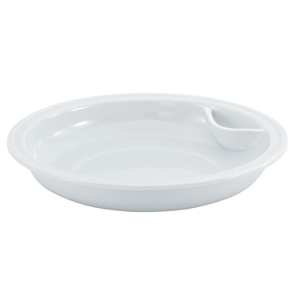 Vollrath 46130 6 Qt. Replacement Porcelain Food Pan for Round Intrigue Induction Chafers