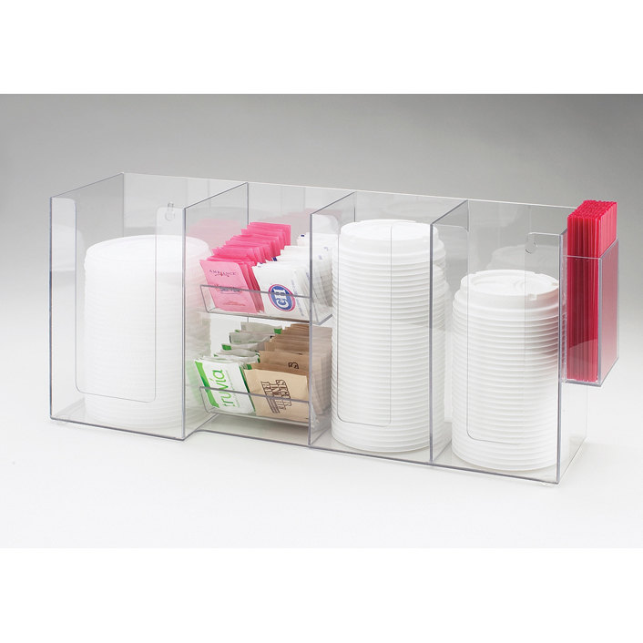 Cal Mil Clear Cal Mil 387-12 Napkin / Lid / Coffee Condiment Organizer at Sears.com