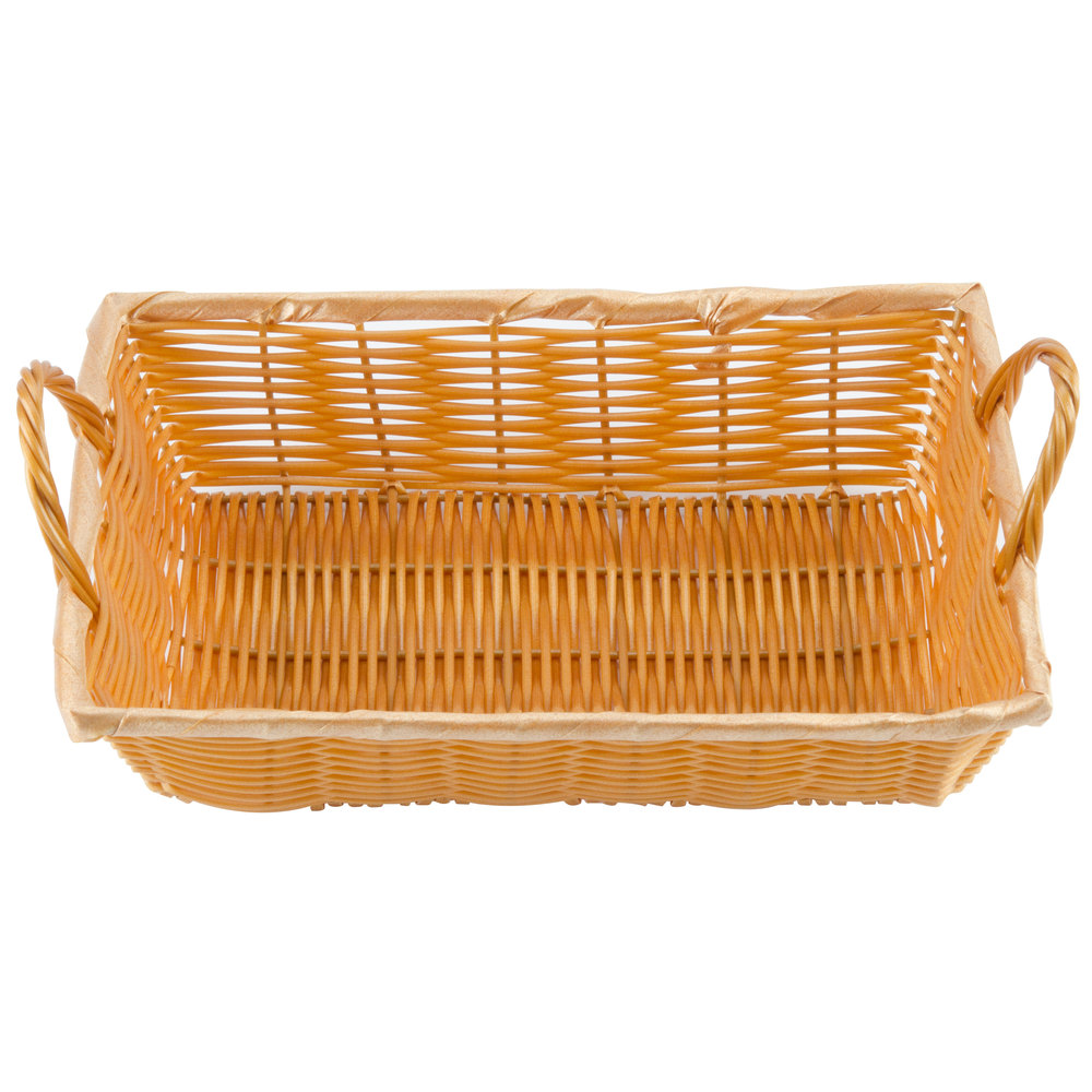 Rectangular Wicker Baskets With Handles : Quot rectangular woven basket with handles