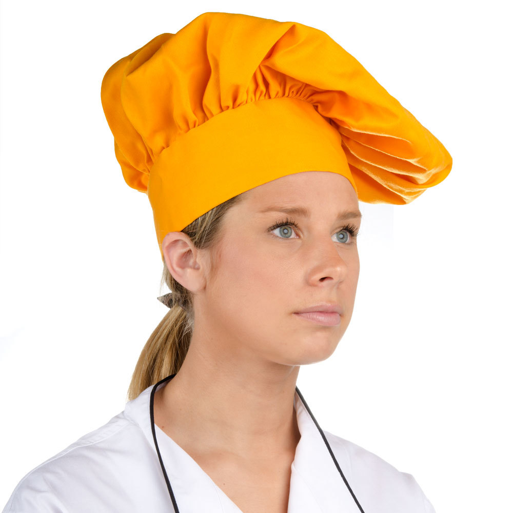 "13"" Gold Chef Hat"
