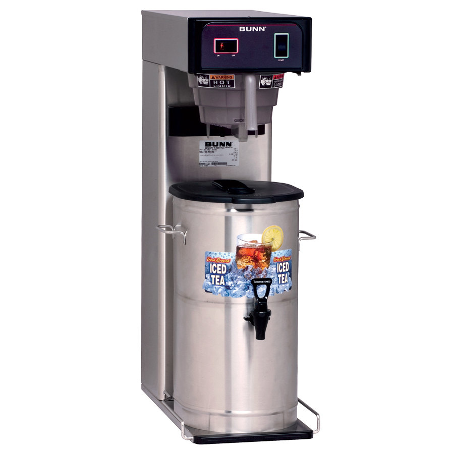 "Bunn 36700.0055 TB3 3 Gallon Iced Tea Brewer with 29"" Trunk and Ready Indicator Light - 120V"