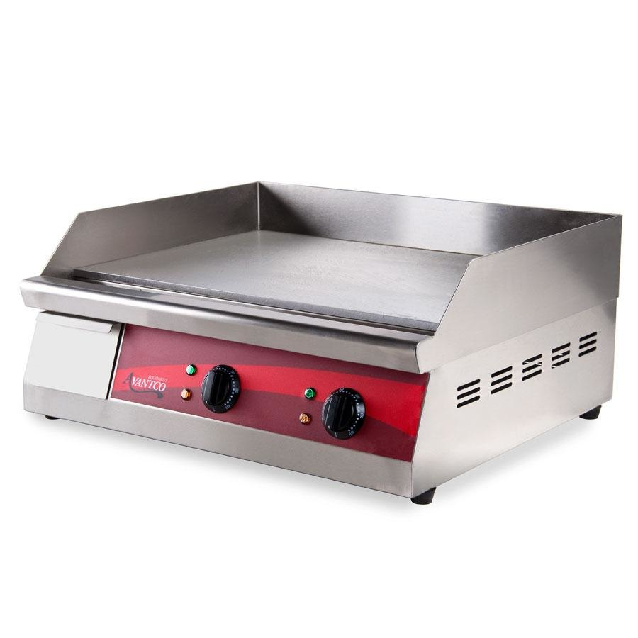 Avantco EG24 24 inch Electric Countertop Griddle - 208V / 240V