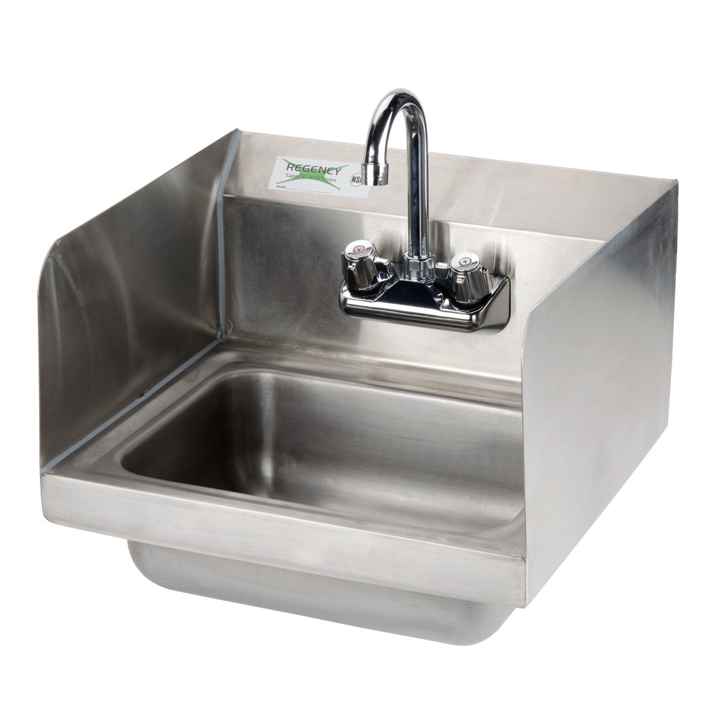Regency 17 X 15 Wall Mounted Hand Sink With Gooseneck