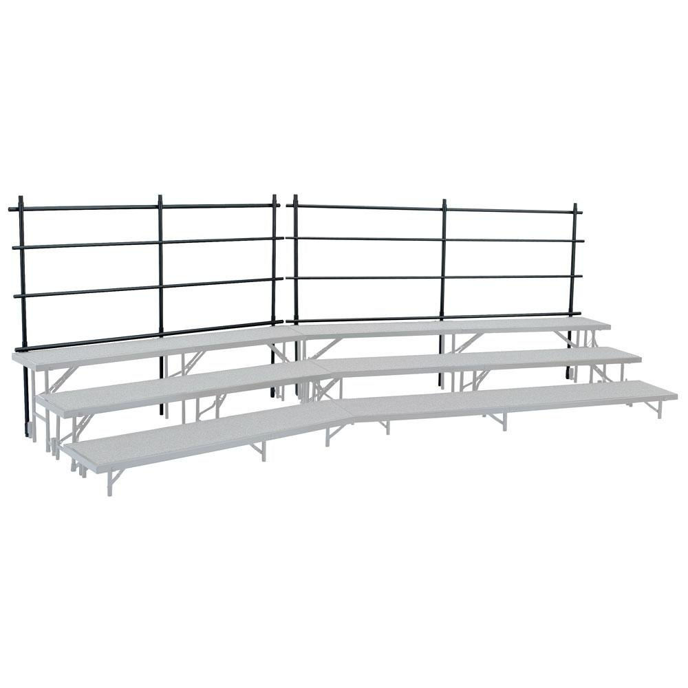 "National Public Seating GRR24T Back Guardrail for 18"" x 24"" Tapered Risers"