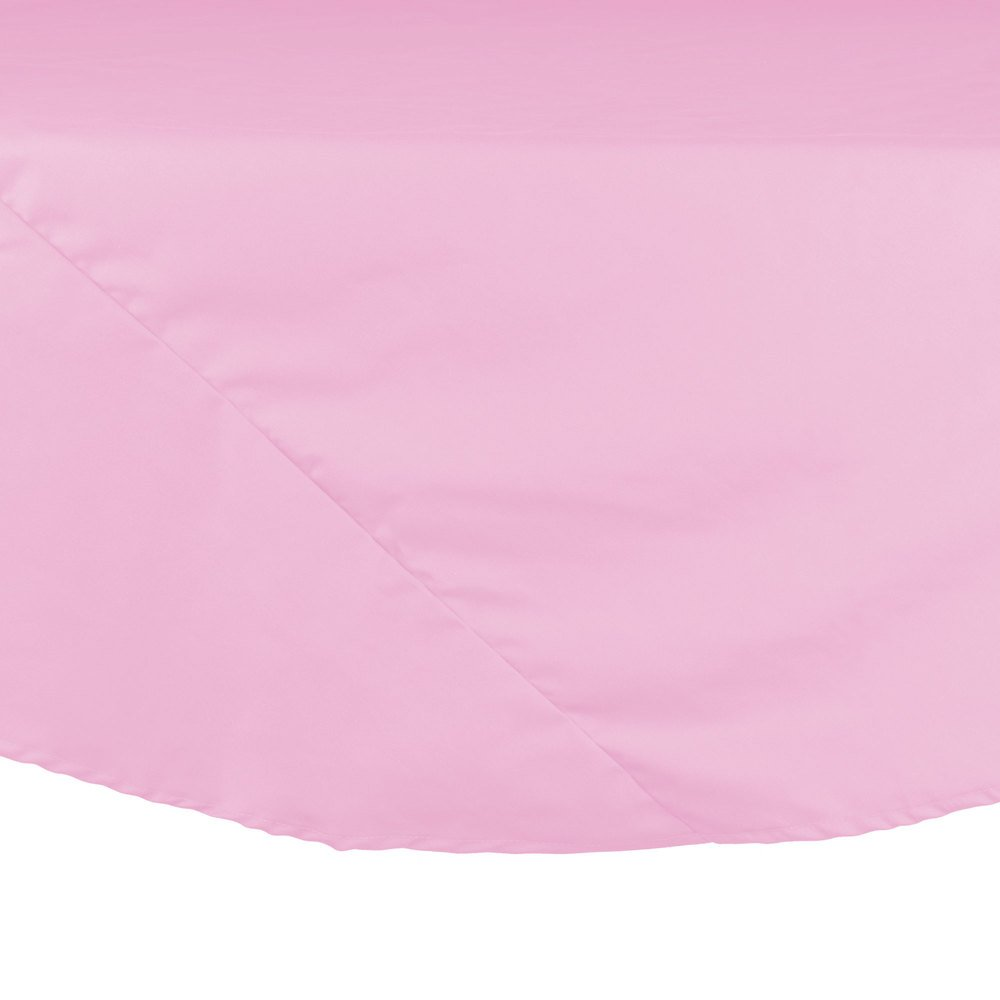 "64"" Pink Round Hemmed Polyspun Cloth Table Cover"
