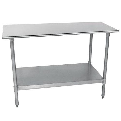 "18 Gauge Advance Tabco TT-240 24"" x 30"" Stainless Steel Work Table with Galvanized Undershelf"