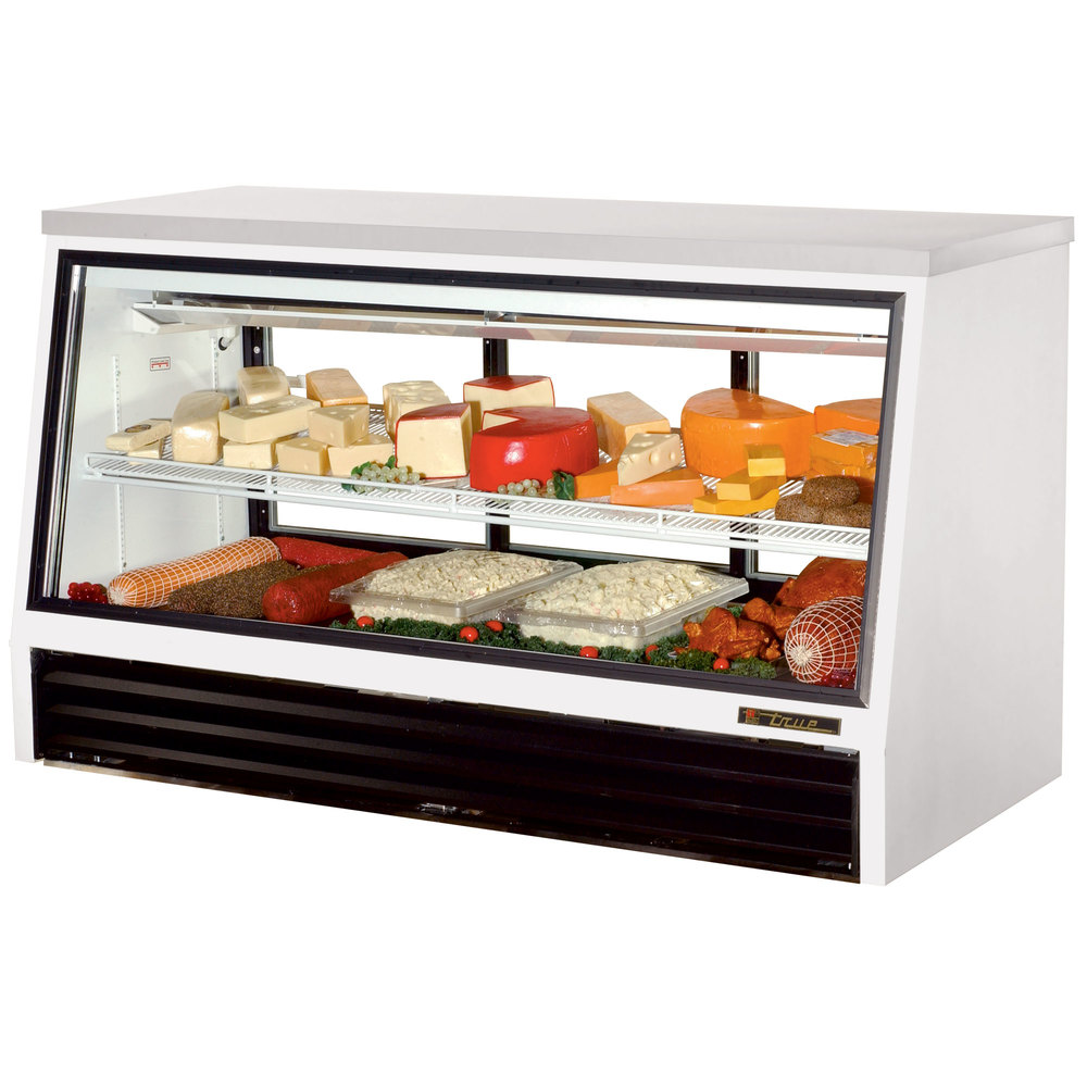 True TSID-72-3-L Low Height Three Door Refrigerated Deli Case - 25 Cu. Ft.