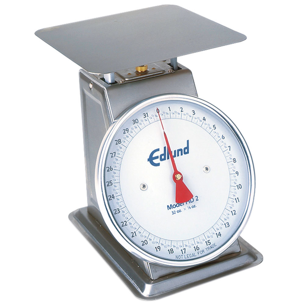 "Edlund HD-2 Heavy Duty 32 oz. Portion Scale with 8 1/2"" x 8 1/2"" Platform"
