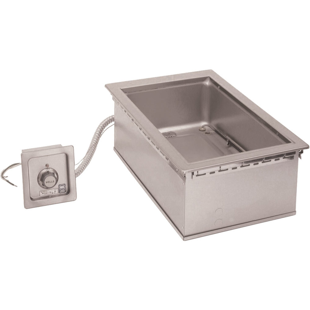 "Wells HW-SMP6D 12"" x 20"" Drop-In Cook and Hold Hot Food Well with Drain"