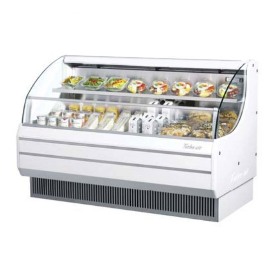 "Turbo Air Refrigeration Turbo Air TOM-60L White 63"" Low Profile Horizontal Air Curtain Display Case - 14.7 Cu. Ft. at Sears.com"