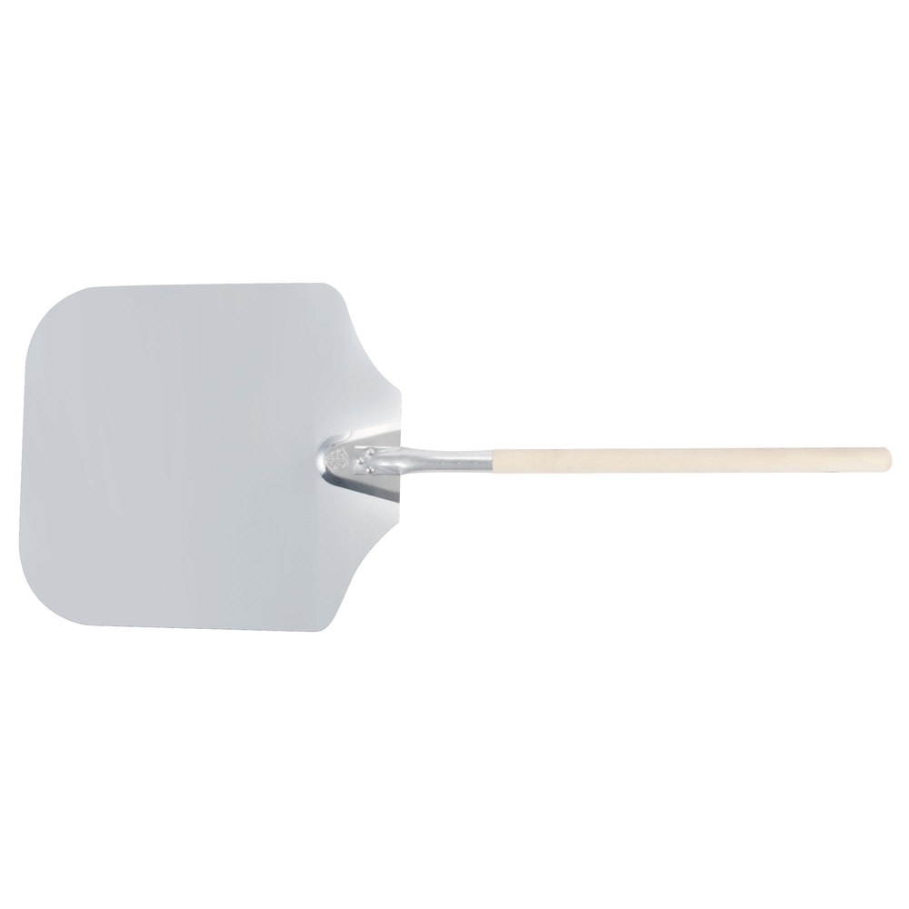 "American Metalcraft 4016 16"" x 18"" Aluminum Pizza Peel with 19"" Wood Handle"