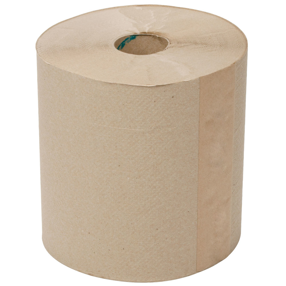 Lavex Janitorial 800 Natural Brown Kraft Hardwound Roll