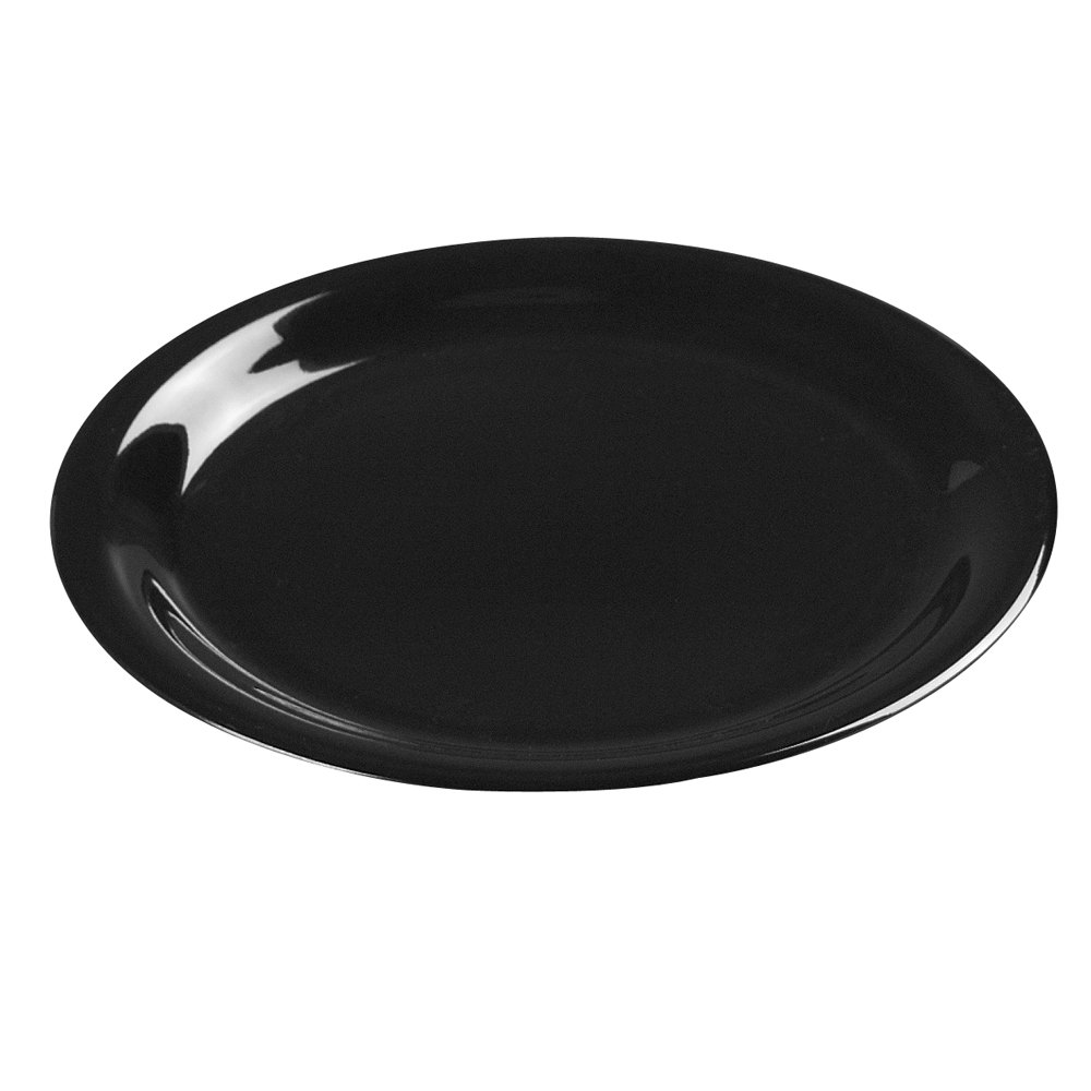 "Carlisle 3300803 6 1/2"" Black Sierrus Narrow Rim Pie Plate - 48 / Case"