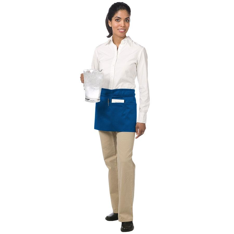 "Chef Revival 605WAFH-RB Customizable Royal Blue Front of the House Waist Apron - 12""L x 24""W"
