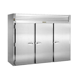 "Traulsen RRI332LUT-FHS Stainless Steel 117.5 Cu. Ft. Three Section Roll In Refrigerator for 66"" Pan Racks - Specification Line"
