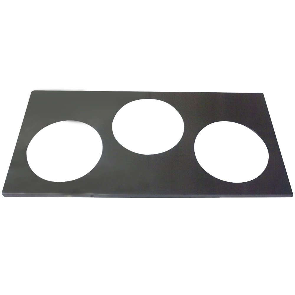 "APW Wyott 56638 3 Hole Adapter Plate with 8 3/8"" Openings"