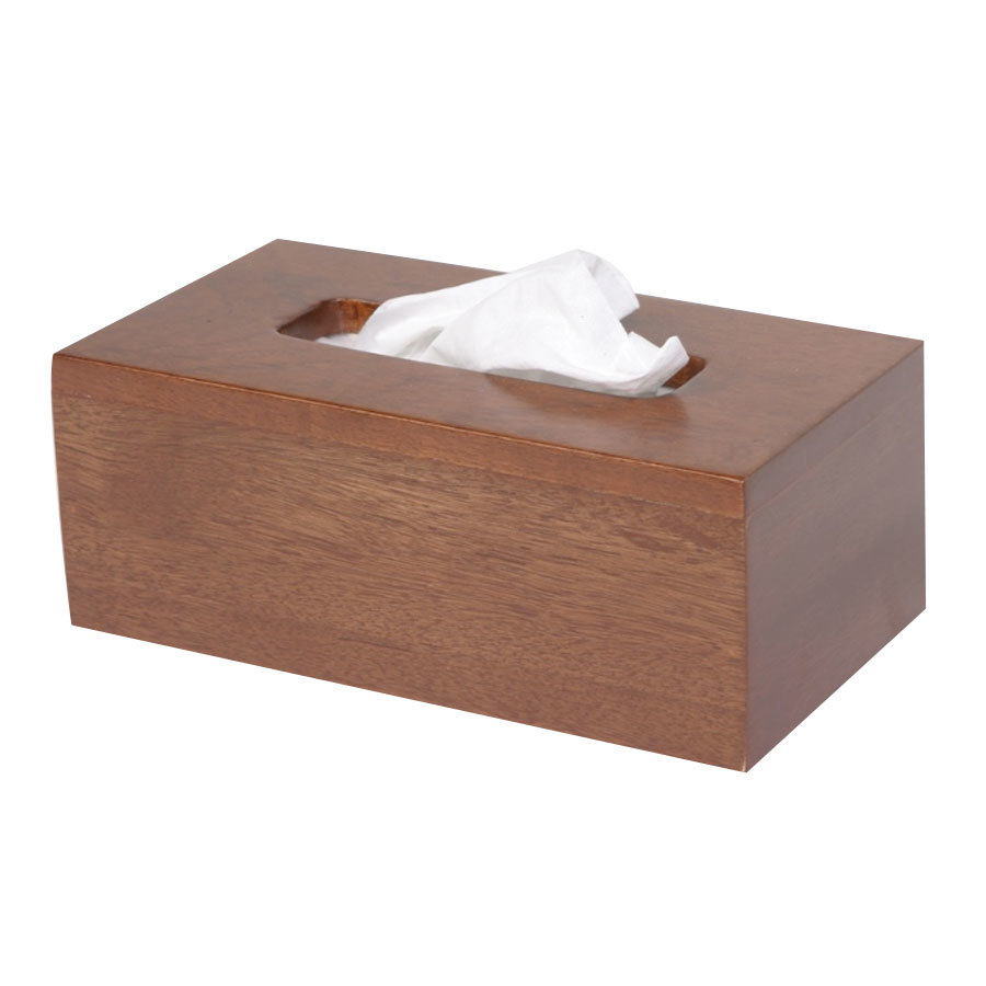 Wooden Short Tissue Box Cover