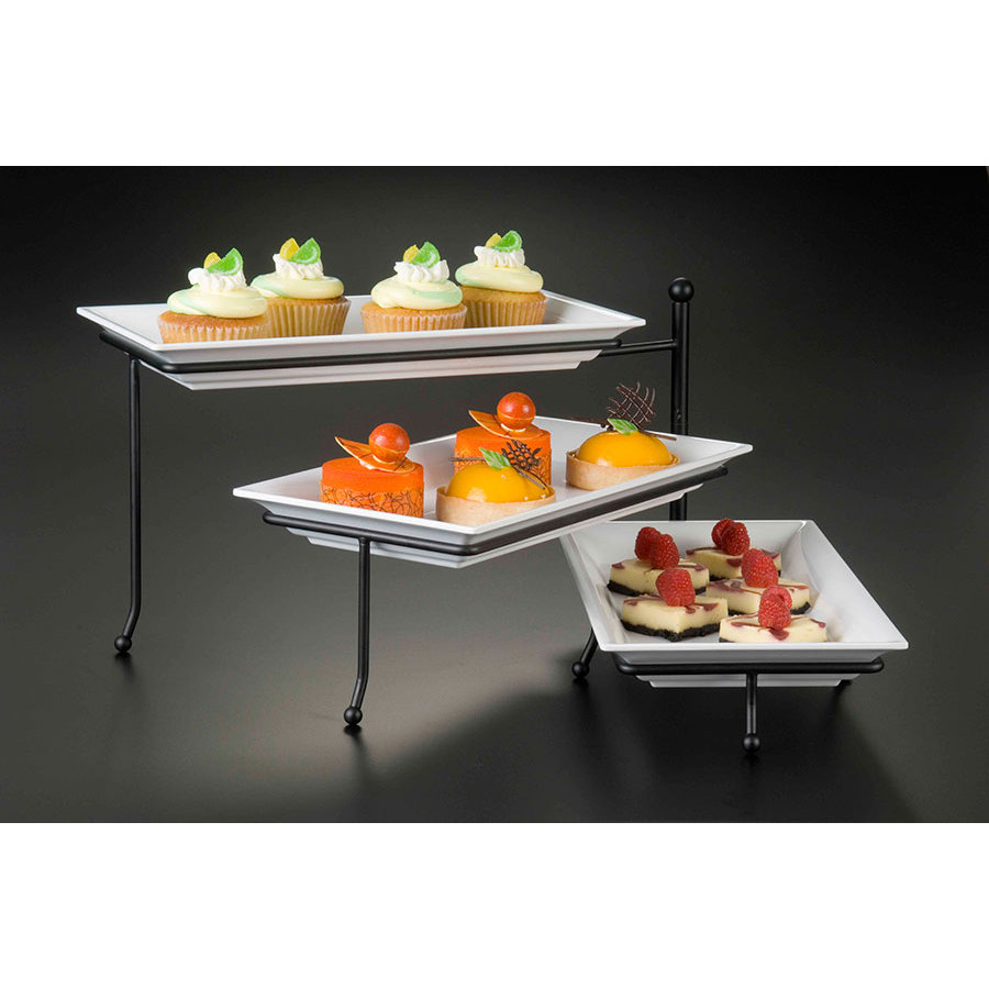 American Metalcraft TTREC3 Folding Three Tier Rectangular Display Stand