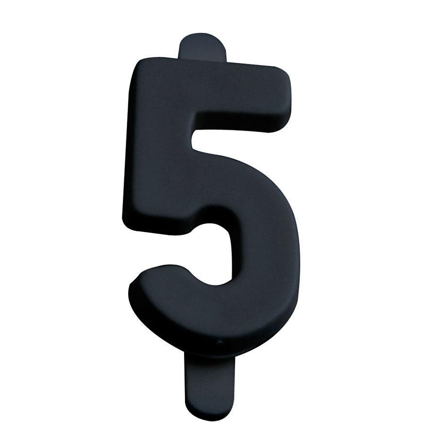 Black Number 5 Insert number 5 - 50 / set