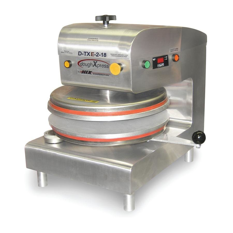 "DoughXpress D-TXE-2-18 Dual Heat Round Electromechanical Tortilla Press 18"" - 220V at Sears.com"